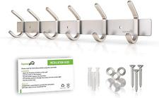 Homephix Heavy Duty Coat Hooks for Wall Mounted | Stainless Steel Hanger Rack 6