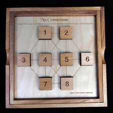 No Connection wood brain teaser puzzle -sz LARGE from Martin Gardner book