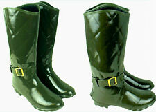 Botas Wellington Mujer Niños Acolchado Impresión Goma Wellies UK3-UK8 Nuevo