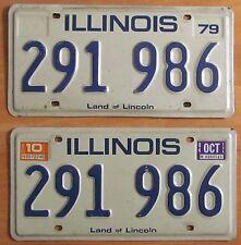 Illinois 1984 License Plate PAIR # 291 986