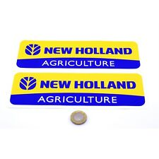 New Holland Sticker Decal Vinyl 200mm x2 Tractor Combine Farming Agriculture
