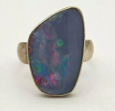 Wunderschöner Boulder Opal 925 Silber Ring - 26.5.20