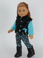 Doll Clothes AG 18 Inch Pants Teal Leopard Print Made To Fit American Girl Dolls