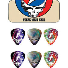 GRATEFUL DEAD Guitar Picks 6 Pack Tin Box Steal OFFICIAL MERCHANDISE
