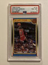 1988 Fleer All-Star Basketball #120 Michael Jordan Chicago Bulls HOF PSA 8 NM-MT