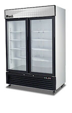 Migali C-49Fm Two Door Freezer Glass Door Merchandiser Free Shipping