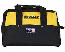 "DEWALT 13"" 6 Pocket Heavy Duty Nylon Canvas Contractor Tool Bag (made in The"