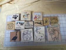 13 wm ANIMAL rubber stamps Koala Bear Rabbit Dino Goose Cow Horse Beaver & More