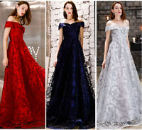 NEW Evening Formal Party Ball Gown Prom Bridesmaid Off Shoulder Host Dress YSGZ