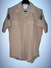 "USMC US Marine Corps Short Sleeve Khaki Service ""C"" Shirt DSCP 16  Sgt."