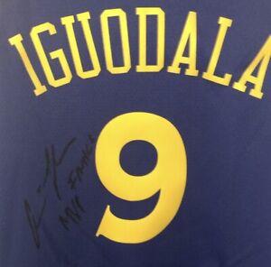 """FINALS MVP"" Andre Iguodala SIGNED Official Nike Swingman Jersey JSA LOA RARE!!!"