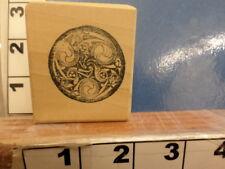 swirls tribal yin yang   RUBBER STAMP 5w