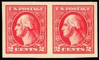534A, Superb Mint NH GEM 2¢ Imperforate Pair - Flawless! - Stuart Katz