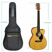 New 41 inch Acoustic Guitar Soft Case Big Bag, with shoulder strap - Black