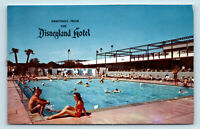 GREETINGS FROM DISNEYLAND HOTEL & POOL POSTCARD   Anaheim, CA   VINTAGE DISNEY