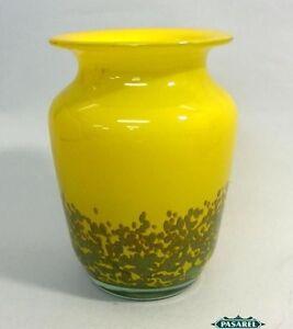 Vintage Handmade Italian Glass Speckled Vase Ca 1950
