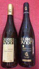 LOTE 2 BOTELLAS VINO VACIAS CERRO AÑON REAL SOCIEDAD 2009 CRIANZA Y RESERVA