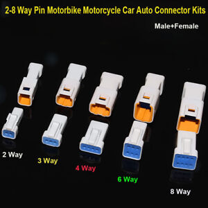 JST06R-JWPF-VSLE-D Mini Connector Kits 2-8 Way Pin Motorbike Motorcycle Car Auto