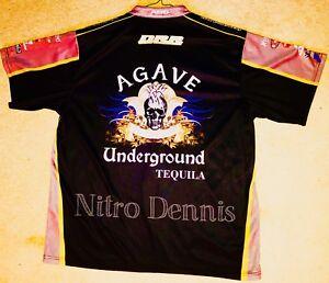 NHRA Danny Rowe DRAG RACING Race Worn NITRO Crew Shirt PRO MOD Agave X LARGE