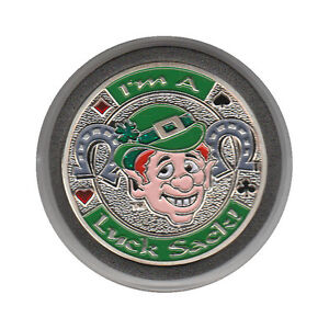 NEW I'm A Luck Sack Poker Card Guard *SILVER*