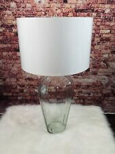 Pottery Barn WBLB Facetedd Glass Console Lamp PN plus White Shade combo