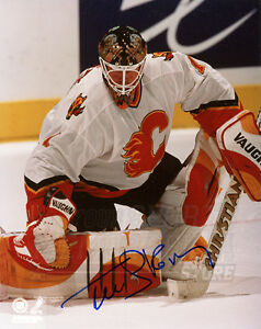 Roman Turek Calgary Flames Signed Autographed Action 8x10
