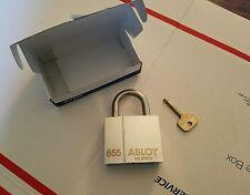 NIB, ABLOY PL655 Maximum Security, General Field Service Military Padlock, 1 Key