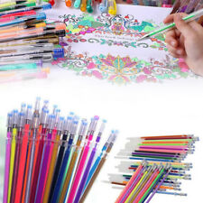 24pcs Gel Pen Set Adult Coloring Book Ink Pens Drawing Painting Craft School Kit
