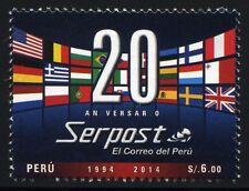 Peru 2014 SERPOST POST FLAG FLAGS MINT MNH