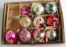 Lot of 10 Vintage Glass Christmas Tree Ornaments - Poland