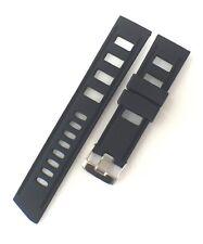 22 mm Negro Reloj De Buceo Correa Goma Silicona ISO se ajusta OMEGA, SEIKO Nuevo