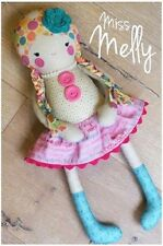 Melly & Me - Miss Melly Doll - Softie Toy Cute Boys Girl - SEWING PATTERN