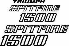 Triumph Spitfire 1500 Replica Badge Decal Set Vinyl Sticker Spitfire MK4