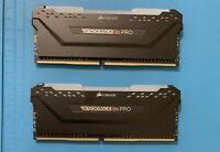 Corsair CMW16GX4M2C3200C16 3200 MHz RGB 16GB (2x8GB) DDR4 SDRAM - Black
