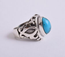 Egyptian Turquoise 925 sterling silver Ring-Middle Eastern-Handcrafted