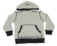 Boys Ex George Hoodie Fine Knit Cotton Hooded Jumper Grey Age 4 to 10 Years Kids