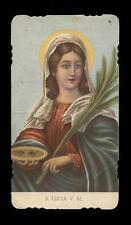 """santino-holy card""""""""ediz. EGIM  n.12 S.LUCIA V.M."""