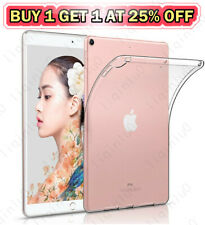 "Crystal Clear Soft Gel Transparent Back Case Cover For iPad 9.7"" 10.2"" 567th Gen"