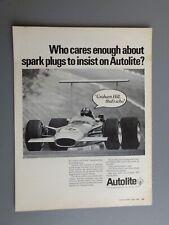 R&L Ex-Mag Vintage Advertisement: Autolite Spark Plugs, Graham Hill F1 Car