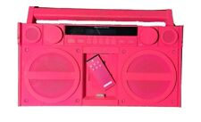iHome iP4 Pink Portable FM Stereo Boombox For iPhone / iPod with Remote (WORKS)