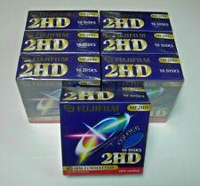 "Caja 10 Disks Fujifilm MF2HD 1,44MB HD IBM Formatted Disquete 3.5"" Azul Nuevo"