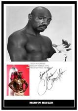 106. marvin hagler boxing signed a4 photograph reprint great gift