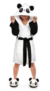 ThinkGeek Kawaii Panda Plush Robe and Slipper Set    **Brand New**