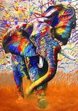 Puzzle Die Farben Afrikas, 1500 Teile, 30% kleinere Teile, Elefant, Bluebird