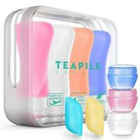 Outdoor Travel Portable Silicone Leak Proof Cusmetic Bottles Shampoo Containers
