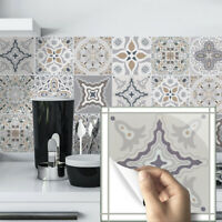10pcs Moroccan Self-adhesive Bathroom Kitchen Deco Wall Stair Floor Tile Sticker