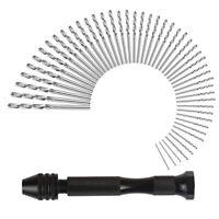 Hand Bohrmaschine Set Präzision Pin Schraubstock Mit 49 Stücke Mini Spiral B m6y