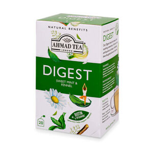 Digest Herbal Sweet Mint & Fennel Foiled Tea Bags 20 ct (1 case 6x20ct) NEW