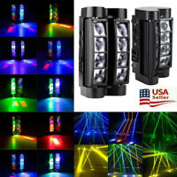 2X 80W RGBW LED Spider Moving Head Stage Lighting Beam DMX Disco Party DJ Light