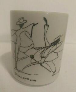 Black & White EDUCATIONAL NARRATIVE IMAGES THE POSMIN'S CO DANCERS Coffee Mug 94
